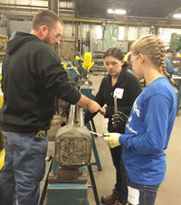 Helping Girl Scouts Earn Fabrication Badge