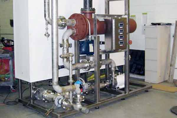 Clean-In-Place (CIP) piping skid
