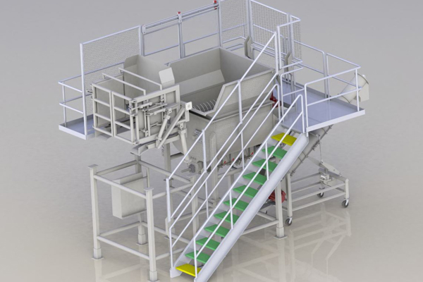 food processing skid rendering