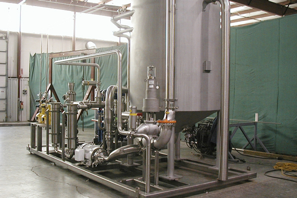 high purity piping skid